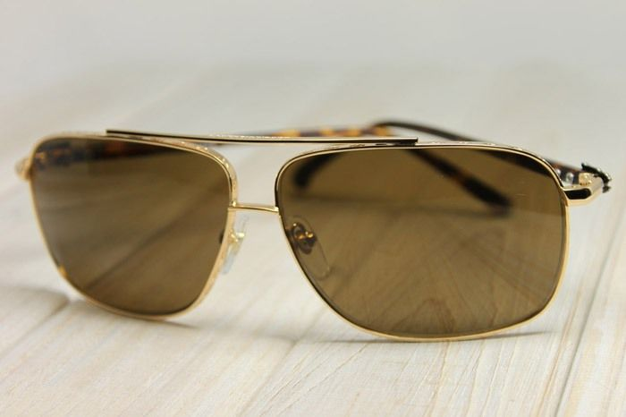 90086b681518 CHROME HEARTS - CROSS BAR AVIATOR  PORK SWORD  GOLD SUNGLASSES ...