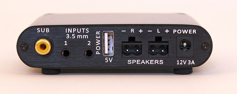 Mini T Rear Panel Of Amplifier By Orb Audio With 2 Stereo