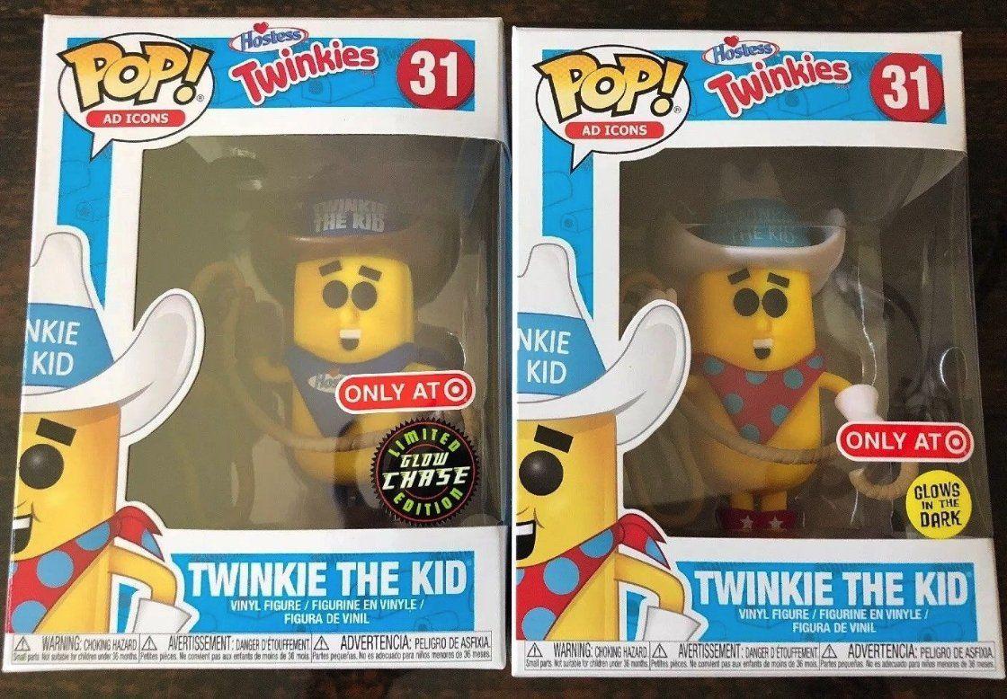 Funkopop Ad Icons Twinkie The Kid 31 Target Chase Regular Set Gitd In Hand Pop Ads Funko Pop Glow In The Dark