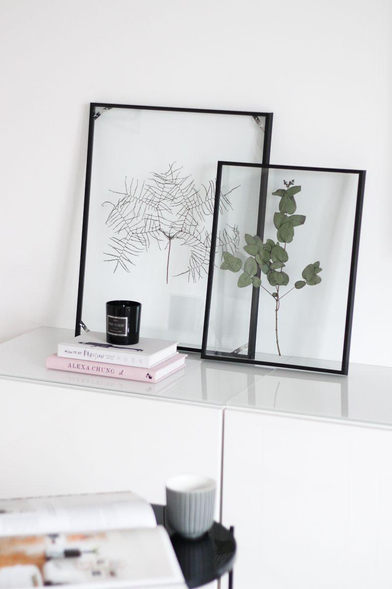 Diy floating frame herbarium so bastelt ihr den schwebenden rahmen diy und selbermachen - Selbstgemachte bilderrahmen ...