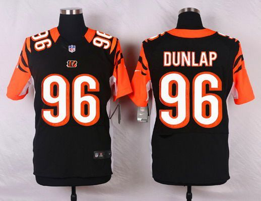 Men s Cincinnati Bengals  96 Carlos Dunlap Black Team Color NFL Nike Elite  Jersey 375052a54