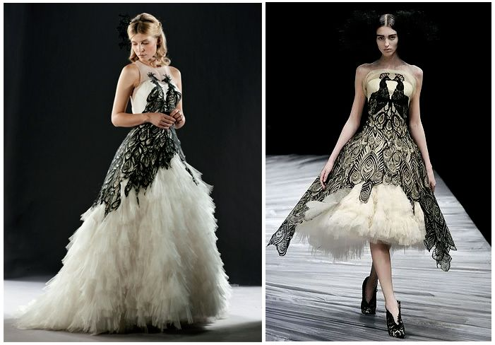 Find This Pin And More On The House Of Huffelpuff Harry Potter Movie Fleur Delacours Alexander Mcqueen Inspired Dress