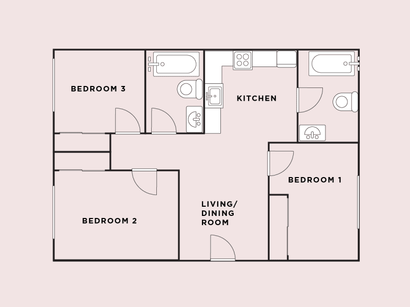 How To Calculate And Split Rent Apartment Floor Plans Apartment Floor Plan Rent