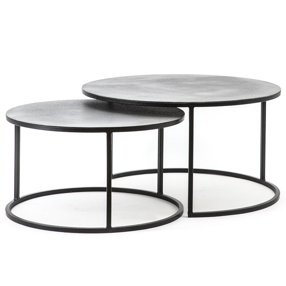 2er Set Couchtische Setto Metall Schwarz Grau Couchtisch Beistelltisch Maison Esto Ihr Grosser Mobel Online Shop In 2020 Sofa Tisch Couchtisch Metall Couchtische
