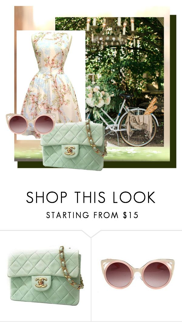 """one fine day"" by vimjoy on Polyvore featuring Chanel, WithChic and vintage"