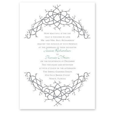 Nature S Celtic Knot Wedding Invitation Irish Wedding Invites At Ann S Bridal Bargai Irish Wedding Invitations Celtic Wedding Invitations Celtic Knot Wedding