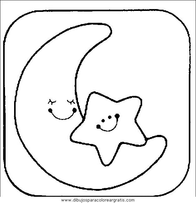 Moon and Stars Coloring Pages Printable Nellies nursery Pinterest
