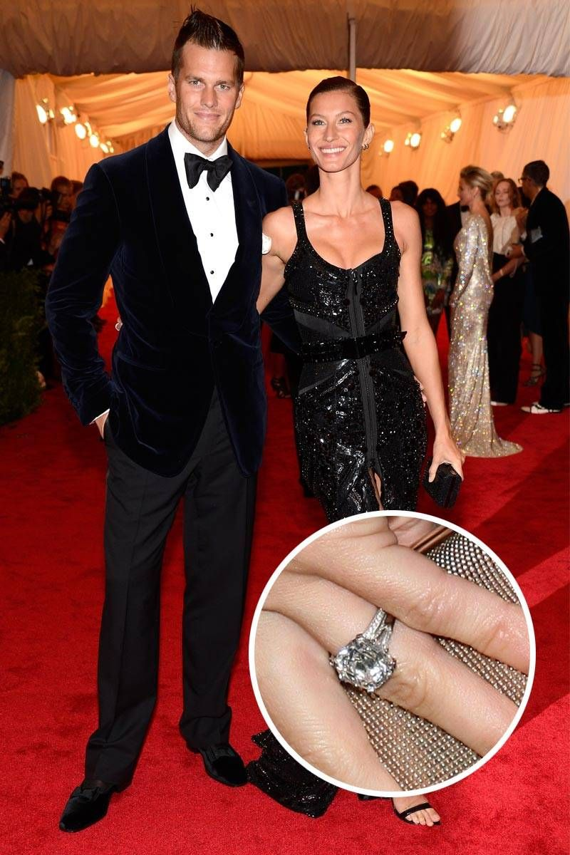 Tom Brady And Gisele Bündchen Supermodel Dons This Four Carat Stunner From Husband Celebrity Wedding Ringscelebrity