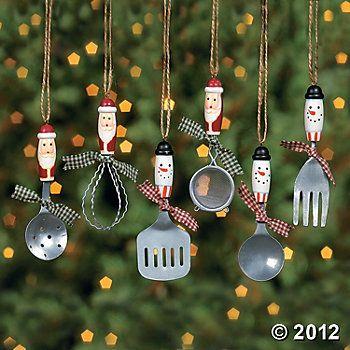 Kitchen Utensil Ornaments - Kitchen Utensil Ornaments Family - Justin Ornaments, Christmas