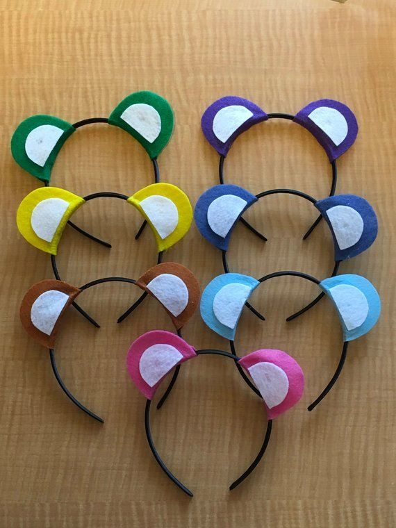 Set of 10 Care Bear Inspired Ears Headbands (Fun Party Favor!) #carebearcostume