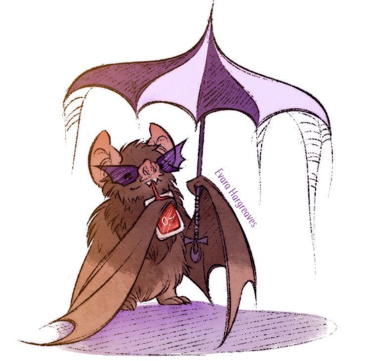 Chill Vampire Bat Vampire Illustration Halloween Illustration