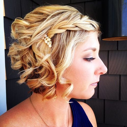 50 Hottest Prom Hairstyles for Short Hair | Curly blonde, Blonde ...