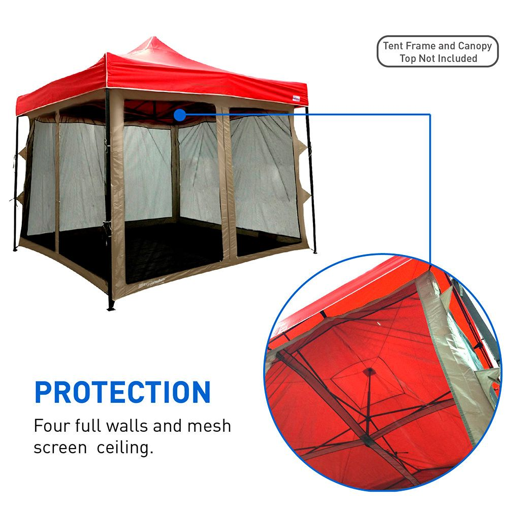 Unique Full Enclosure Screen House Room With Four Full Screen Walls Screen Tent Tent Easy Up Tent
