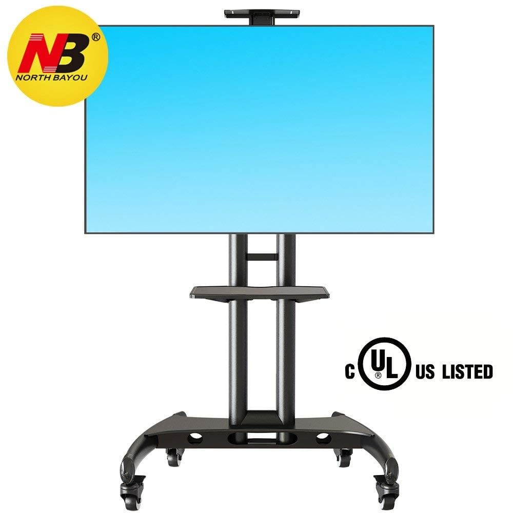 North Bayou Mobile Tv Cart Tv Stand Portable Tv Stands Pinterest