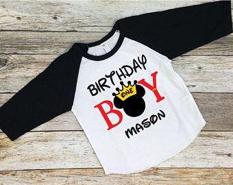 Birthday Boy Mickey Mouse Shirt Disney Disneyland