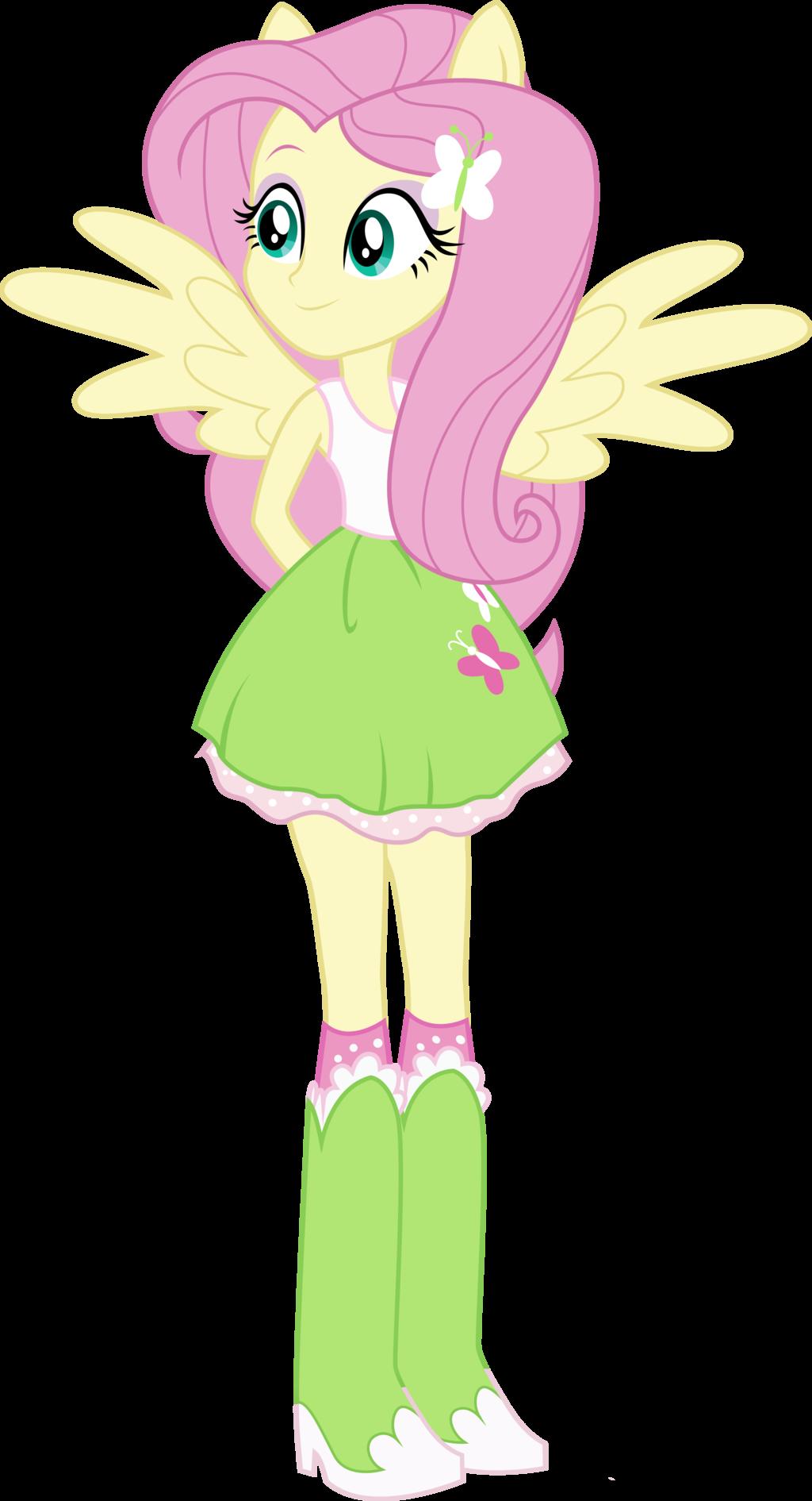 Equestria Girls Fluttershy by TheShadowStone on