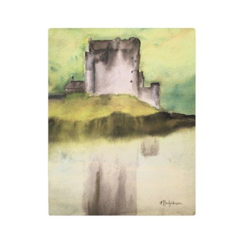 15 Motivational Rustic Home Office Designs That Will: SCOTTISH CASTLES, WATERCOLOUR METAL PRINT