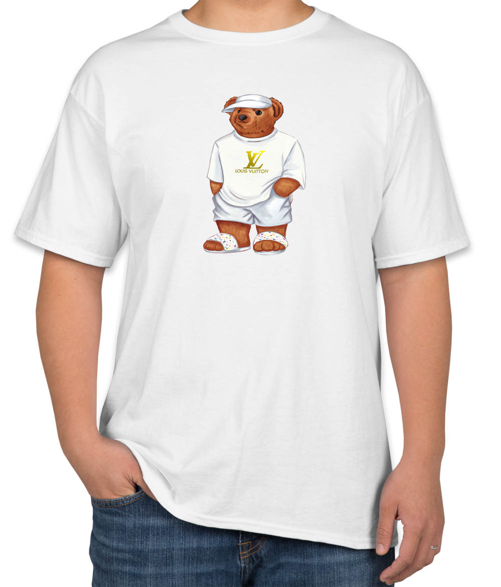784797d0dbdc5d Life's Louis Vuitton Bear Unisex T-shirt | TEEFLAT | Gucci shirts, T ...