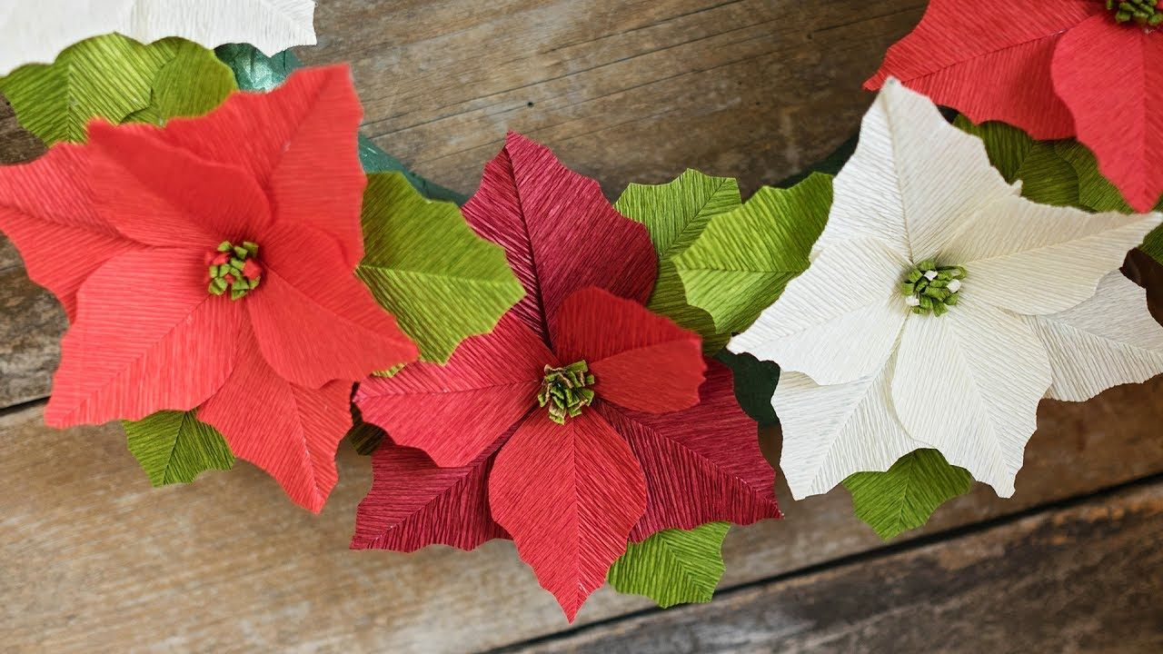 840 How To Make A Crepe Paper Flower Poinsettia Paper Crafts