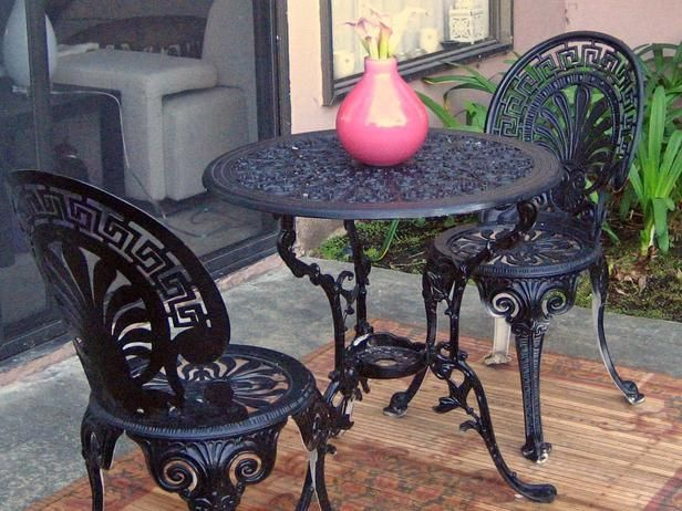 Make The Most Of A Small Backyard Iron Patio Furniture Cast Iron Patio Furniture Wrought Iron Chairs