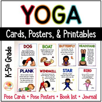 image regarding Yoga Cards Printable called Yoga Playing cards for Small children: Yoga Pose Playing cards and Magazine for Thoughts