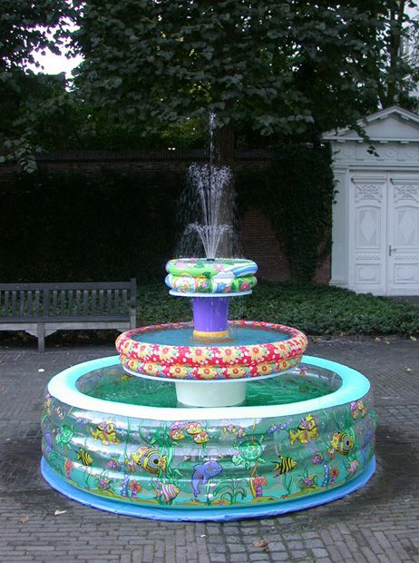 The Inflatable Swimming Pool Fountain...So cute