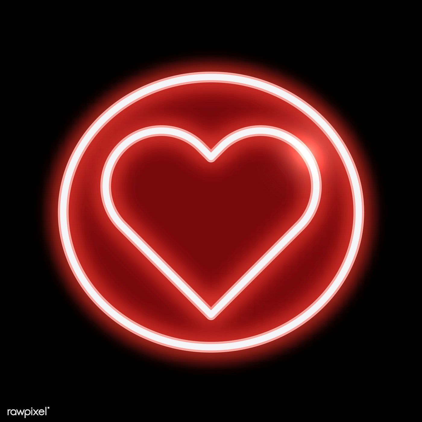 Red heart shaped emoji vector free image by
