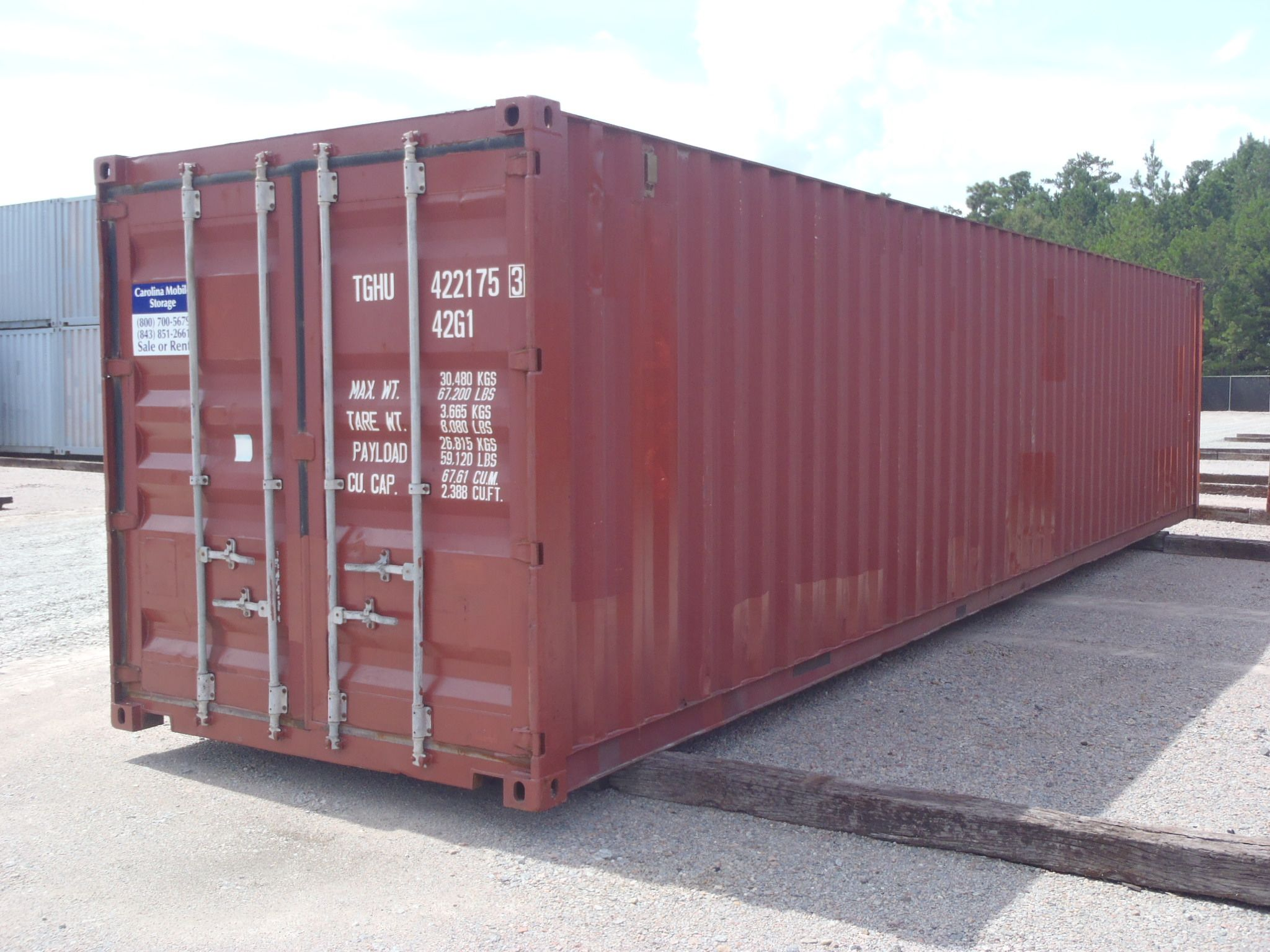 Best 40Ft Wind And Water Tight Container In Burgundy Color Www 400 x 300