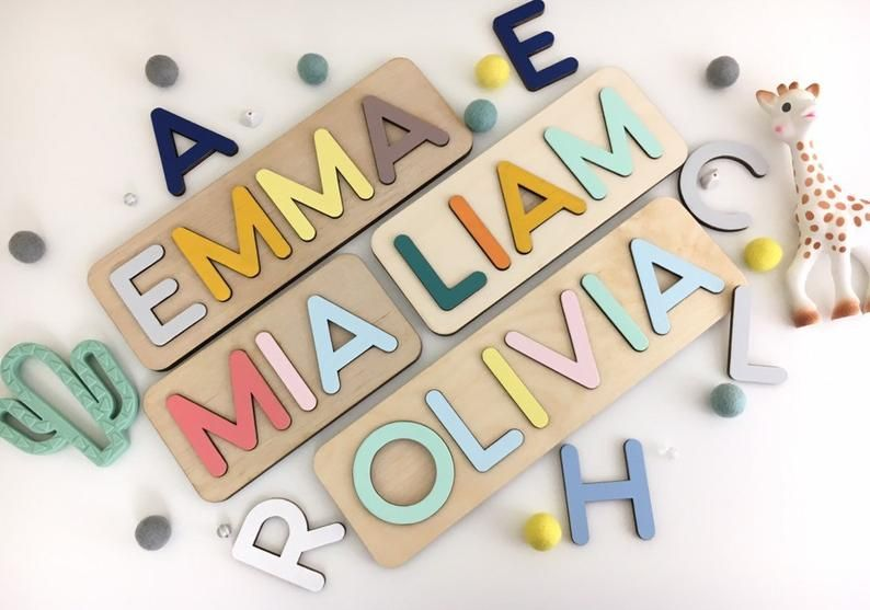Baby Gifts,Gift for Kids Personalized name puzzle.Wooden Name Puzzle educative puzzle Christmas Present Custom name Puzzle Toddler Toys