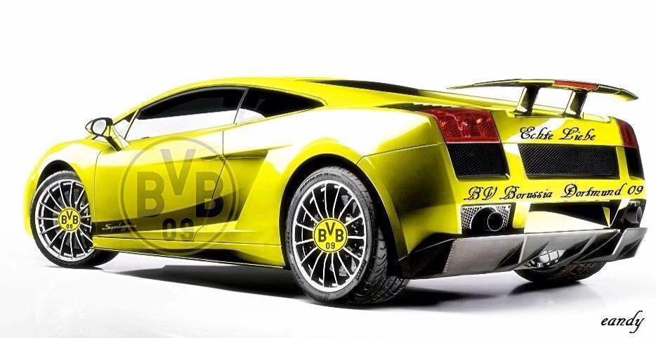Lamborghini Fußball in gelb Bälle