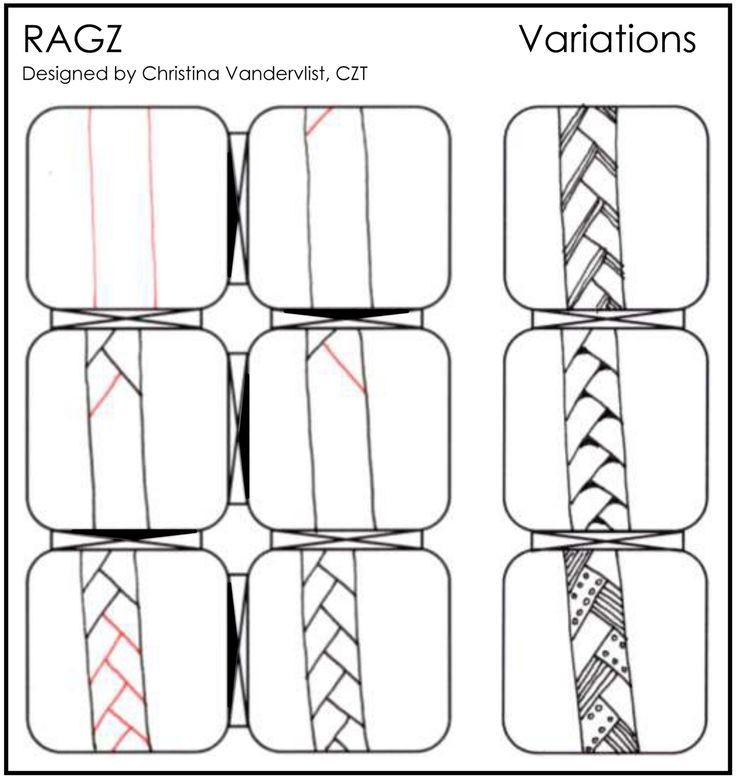 Afbeeldingsresultaat voor zentangle patterns for beginners