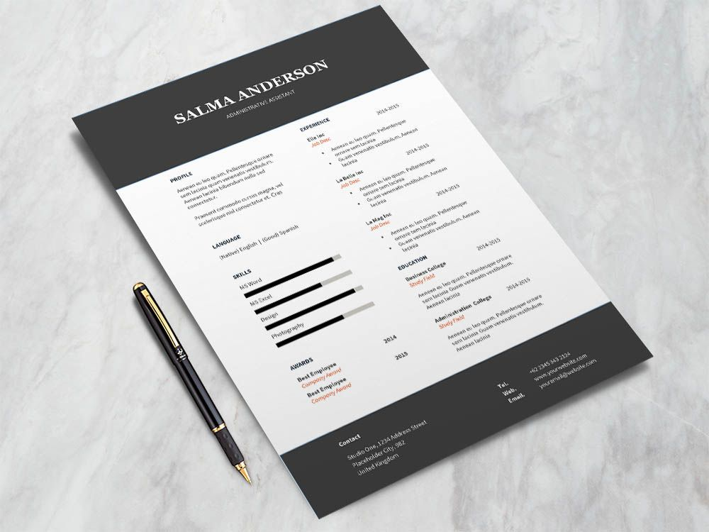 Free Administrative Assistant Resume Template in 2020