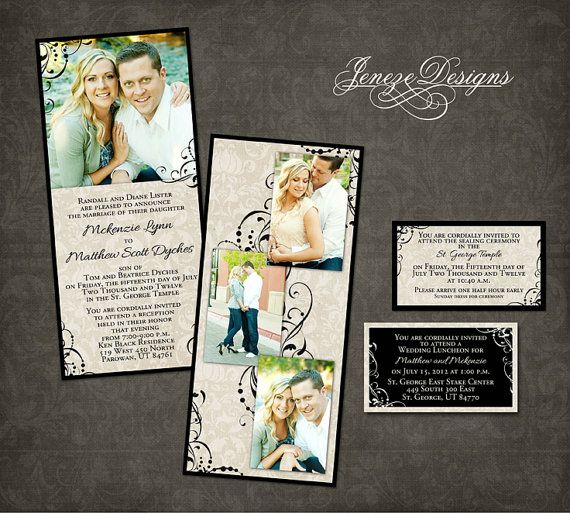 Wedding invitation template photographers and photoshop for 4x8 wedding invitations