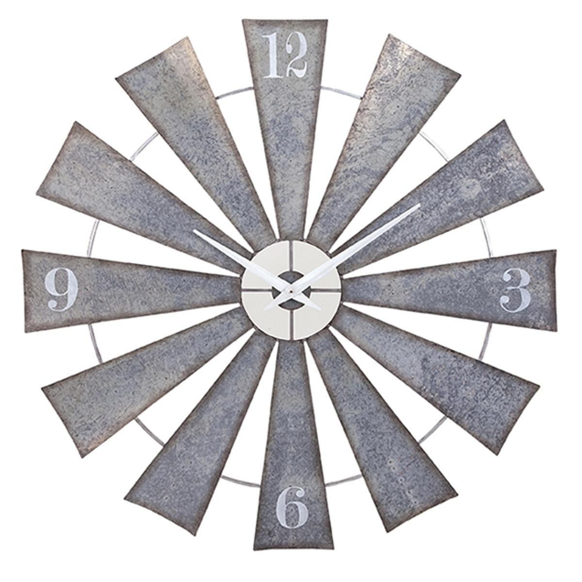 metal windmill wall clock also decor  farm house fixer upper rh pinterest