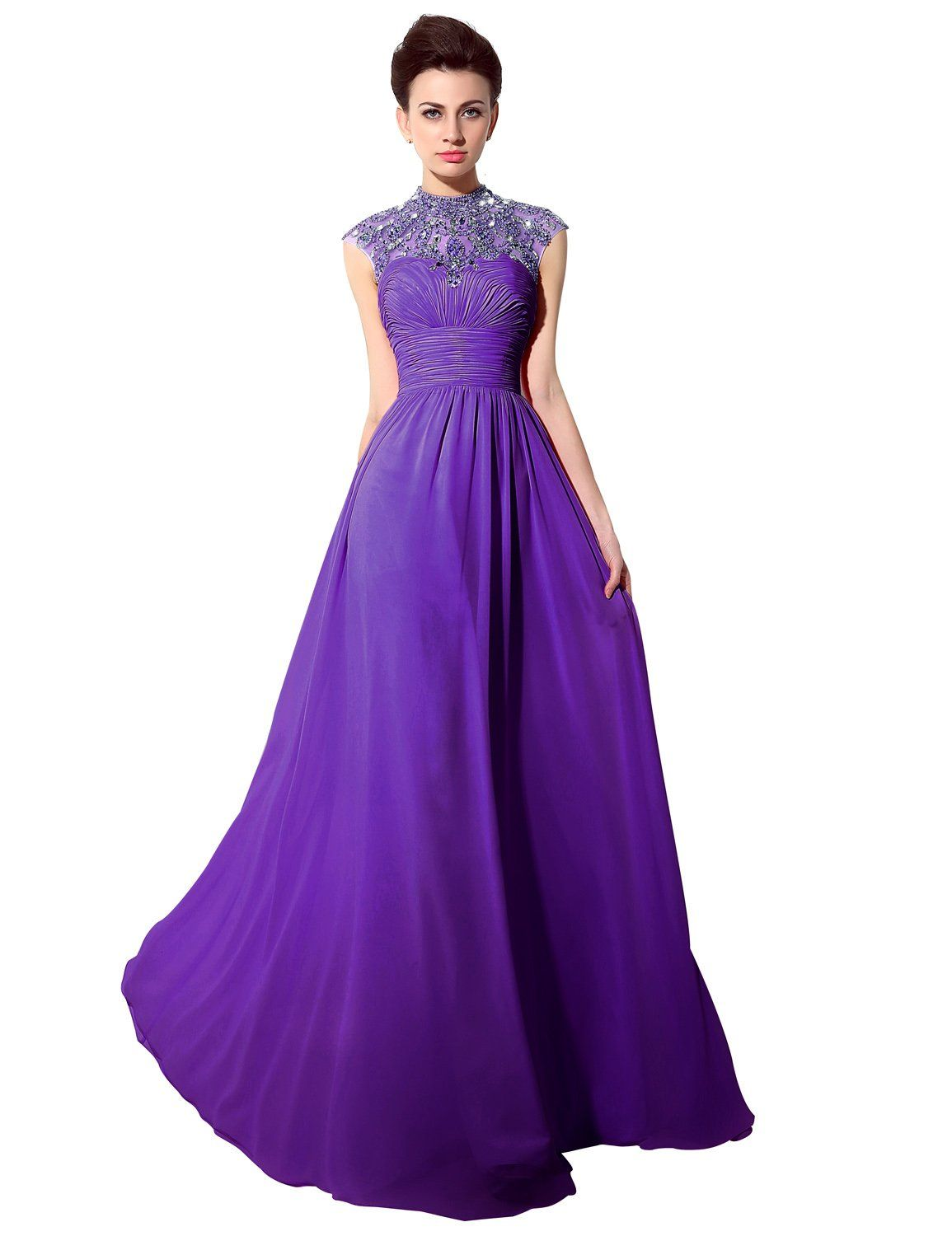 Clearbridal womenus plus size purple prom dress evening gown