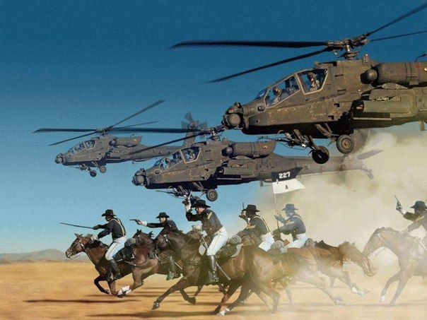 The soldiers of the 1st cavalry (airmobile) division of the United States. The cavalry was replaced by helicopters. 2010-ies
