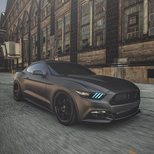 Ford Mustang Black Mat With Images Ford Mustang Black Mustang