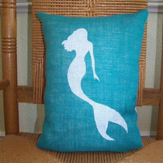 Mermaid pillowBeach decor Ocean pillow by KelleysCollections