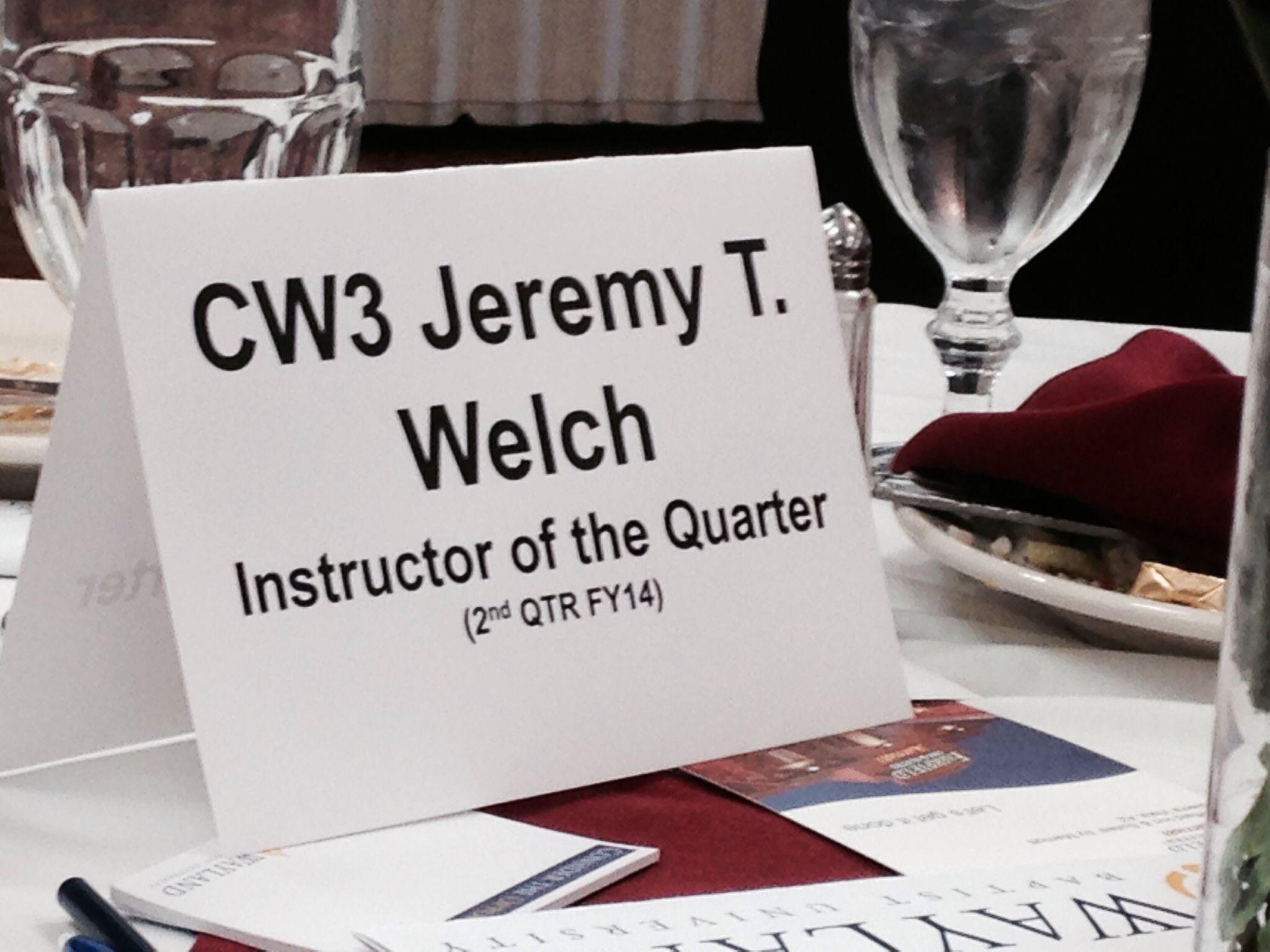 Congratulation CW3 Welch!  Thank you for your service!  #fthuachuca #az