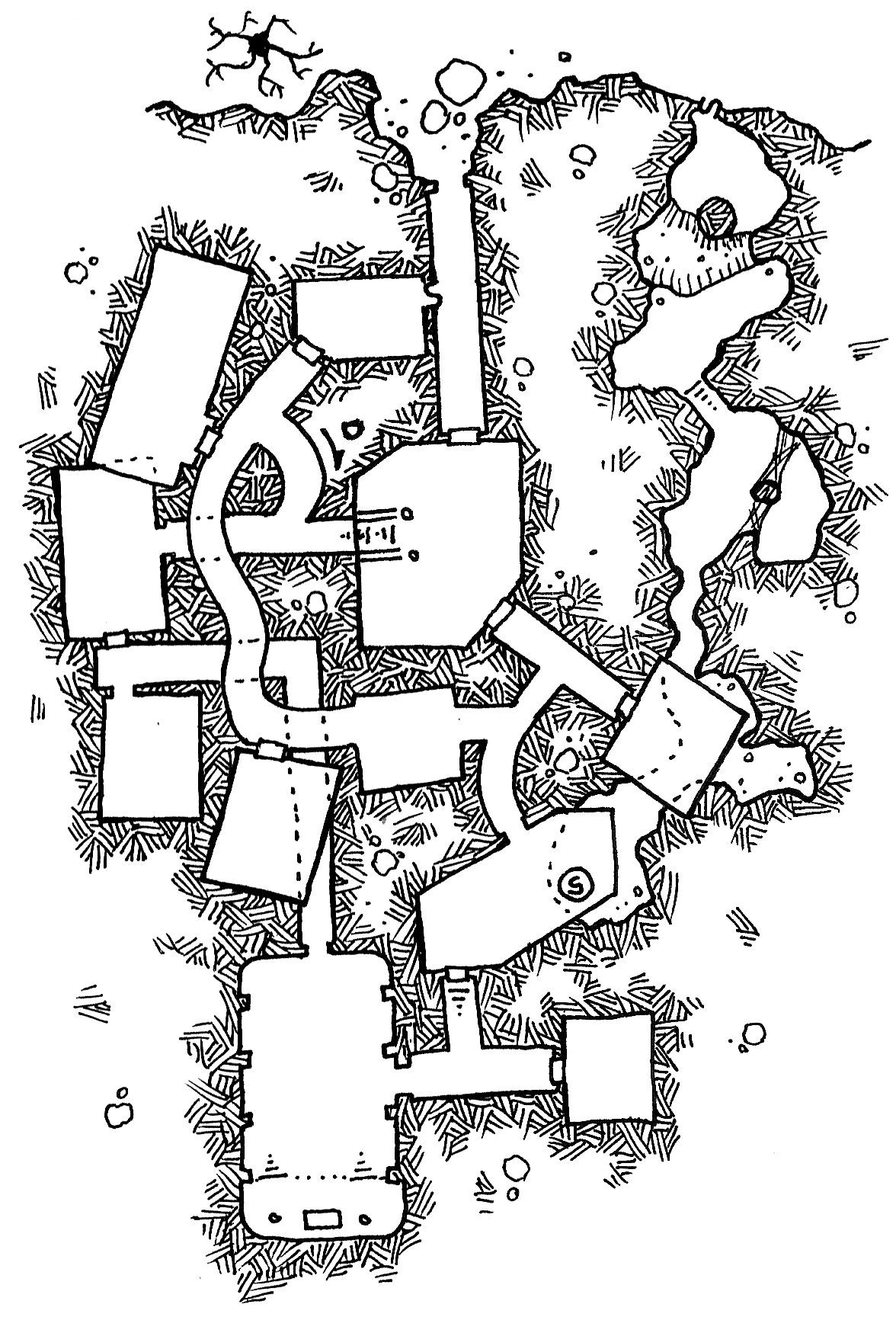 Friday Map] Heber's Cave | RPG Maps | Dungeon maps, Fantasy city map