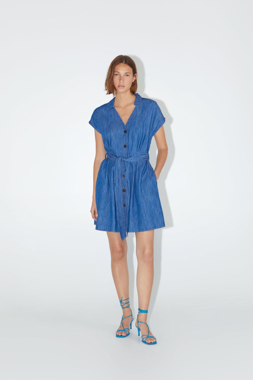 BELTED DENIM DRESS - NEW IN-WOMAN | ZARA United States ...