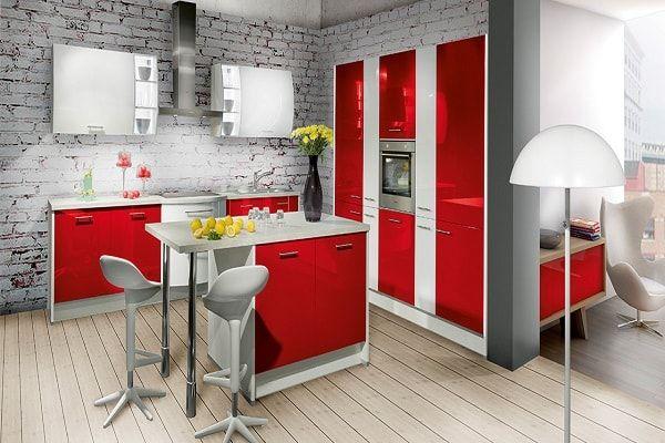 Cuisine Américaine Des Idées Pour Un Aménagement Ouvert Rouge - Meuble desserte cuisine pour idees de deco de cuisine
