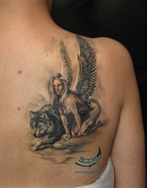 Angel Tattoos On Shoulder Tattoo Designs For Women Angel Tattoo For Women Tattoos Tattoo Themes