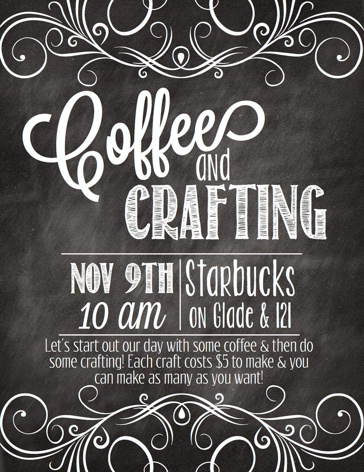 Walking Worthy Coffee & Crafting Church outreach