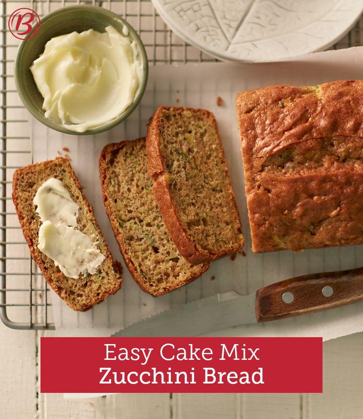 Zucchini Bread Using Cake Mix