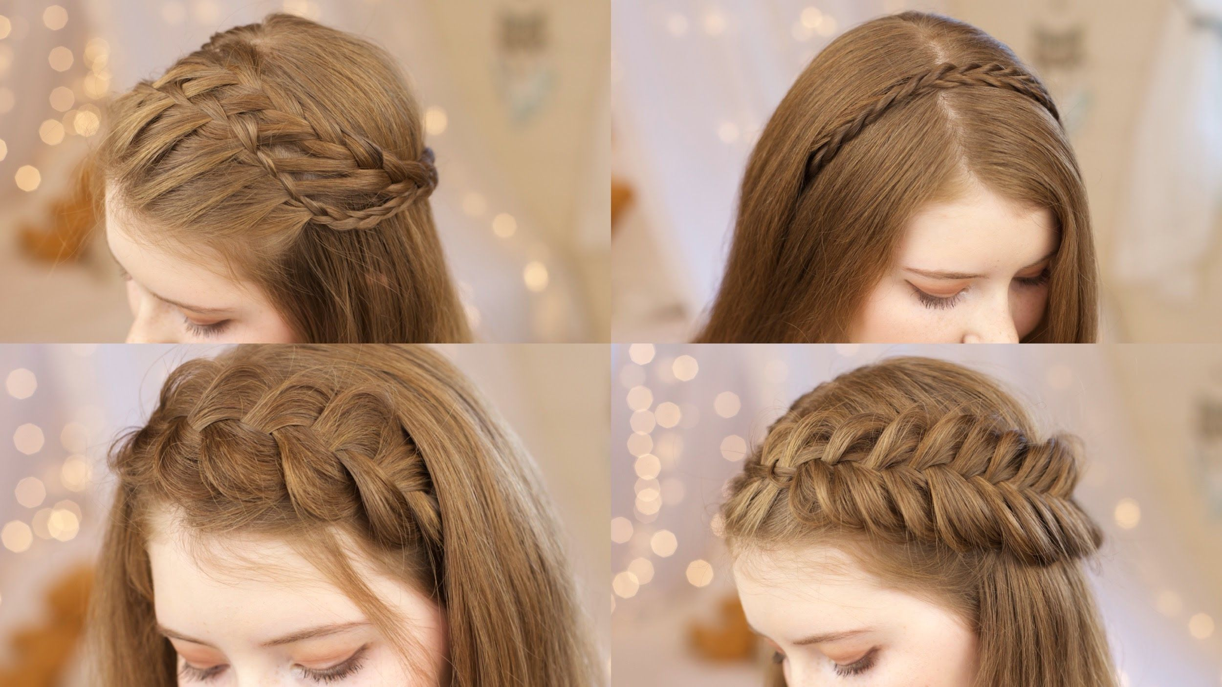 2 Minute Hairstyles 5 Headband Braids  Back To School Hairstyles  Braids And Bows