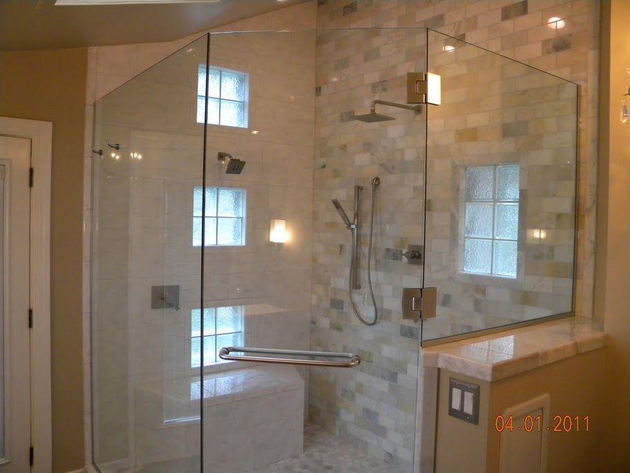 Corner Door And No Frame Bathroom Pinterest Corner Shower