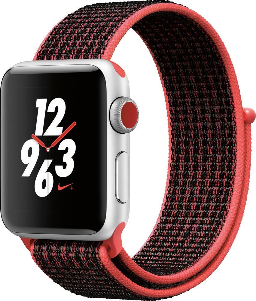 dc7617b4355 Apple - Geek Squad Certified Refurbished Apple Watch Nike+ Series 3 ...