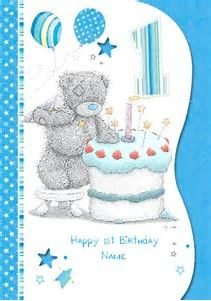 Image Result For First Birthday Card Boy
