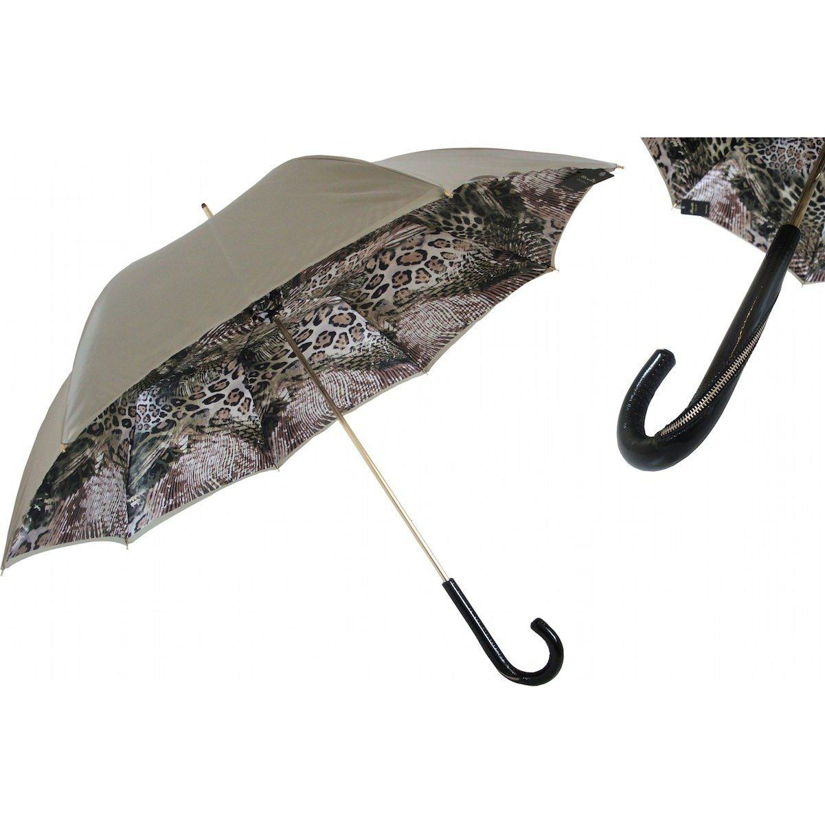 Zip handle jungle umbrella double cloth